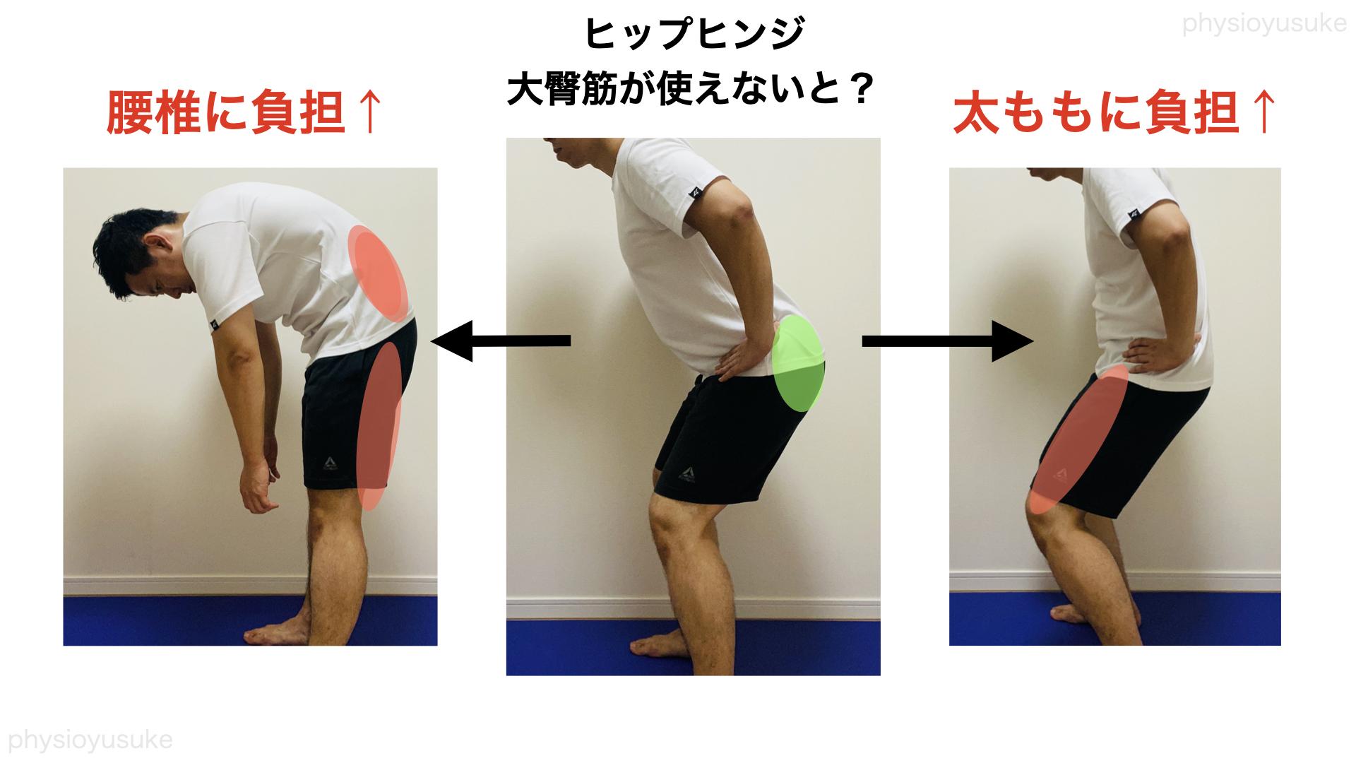 大臀筋、腰痛、太ももの負担
